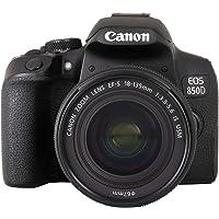 Canon EOS 850D DSLR Digitalkamera Gehäuse - mit Objektiv EF-S 18-135mm F3.5-5.6 IS USM (24,1 MP, 7,5 cm (3 Zoll) Display…