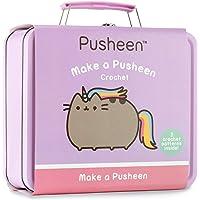 Pusheen FOX013 Crochet Craft Kit in a Tin-Make a Pusheenicorn Doughnut, Pink