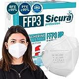 FFP3 mask CE gecertificeerd Gemaakt in Italië. Maskers BFE ≥99%. set van 10 mondkapjes ffp3 UV-C GESANITISEERD en individueel