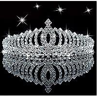 Tiara di compleanno della principessa con strass luccicanti per bambini, con pettine, con strass