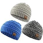 Azue Kids Winter Hats Newborn Baby Warm Knit Lined Caps Toddler Children Beanies