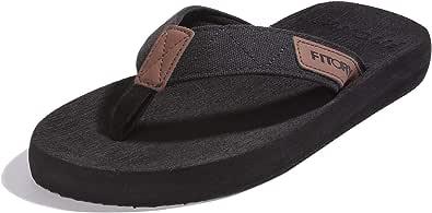 FITORY Men's Flip-Flops Thongs Comfort Slippers for Beach/Pool