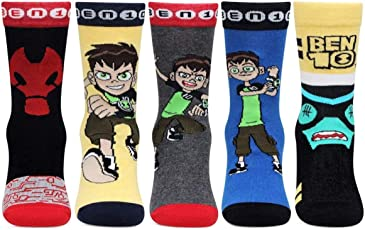 Kidzvilla® Ben10 Designer Unisex Socks For Kids (Pack of 5 pairs)