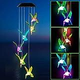 Windgong op zonne-energie, voor buiten, met kleurverandering, solar, led, windgong verlichting, hanglamp, decoratie voor terr