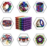 Chocozone Pack of 216 Multicolor 5MM Magnets for Kids Steel Balls Educational Toys for 12 Years Old