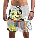 Anmarco Panda Play with Bubbles - Bañador de secado rápido para hombre con bolsillo