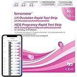 Femometer 40 x test di ovulazione + 10 test di gravidanza, Monitoraggio Attendibile del Ciclo e del Periodo Fertile…