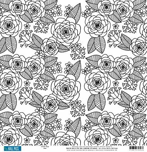 American Crafts Hall Pass cartoncino cartoncino cartoncino double-face da Coloreeeare per adulti rosa, acrilico,, 30 x 30 cm, confezione da 25 fogli | Abile Fabbricazione  | Costi Moderati  | Design professionale  f3729e