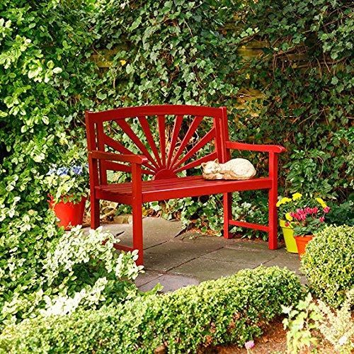 Garten-Sitzbank Sonnenschein, Rot