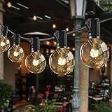 Guirlande Lumineuse Exterieure, BALIPPE 12.8M Guirlande Guinguette Exterieur avec 36 Ampoules & 4 de Rechange, IP44 Imperméab