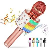 Cvozo Karaoke Mikrofon, 4 in 1 Drahtloses Bluetooth Mikrofon für Kinder, Lustige Geschenke Spielzeug für Teenager…