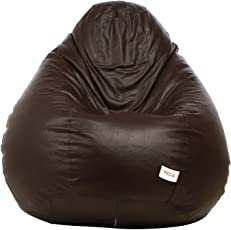 Sattva Classic Bean Bag Cover without beans - XL Size - Brown Colour
