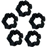 Kitsch Satin Scrunchies for Hair (5 pack)- Satin Hair Ties for Women, Scrunchie for Frizz & Breakage Prevention and Style Pre