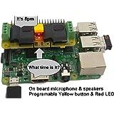 Audio DAC HAT Sound Card (AUDIO+SPEAKER+MIC) for Raspberry Pi Zero / A+ / B+ / Pi 2 : Pi 3 Model B / Better quality than USB