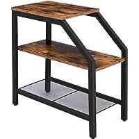 HOOBRO Table d'Appoint, Table de Chevet Fine à 3 Niveaux, Bout de Canapé de Style Industriel, pour Petit Espace, Cadre…