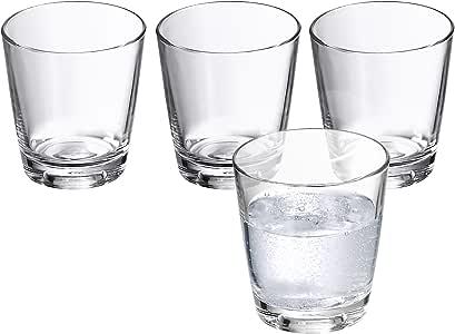 WMF 0950519994 Wasserglas-Set 4 Stück, 0,2 L Basic: Amazon