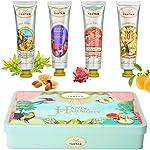 Un Air d'Antan Coffret Beauté 4 Cremes Mains Hydratantes Femme, Beurre de Karité, Aloe Vera, Parfums Exclusifs Verveine...