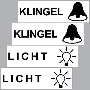 Greenit 4 Stück Aufkleber Sticker Licht Klingel Briefkasten Schalter Haustür Auto