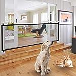 Portable Folding Safety Magic Gate Pets Dog Guard Mesh Safe Guard Install Anywhere