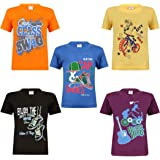 Kiddeo Kids Boys Halfsleeve t-Shirts(CMB-2)(Pack of 5)