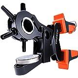 Presch Pinza Fustellatrice per Cuoio - Perforatrice a Revolver con Leva per Cinture - Pinza Fustellatrice Professionale