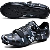 Mens Cycling Shoes Road Bike Shoe with SPD Road Riding Rotating Shoe Peloton Shoes with Buckle Delta Compatible for…