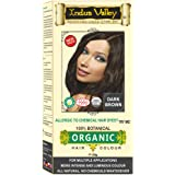 INDUS VALLEY 100% Botanical Dark Brown hair Color Dermatologist Recommended, Safe for Pregnent & Lactating Mother