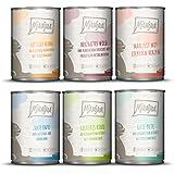 MjAMjAM Mangime Umido per Gatti, Mix Pack III 1 Cinghiale e Coniglio, 1 Tacchino e Zucca, 1 Anatra, 1 Pollo, 2 Bovino, 2…