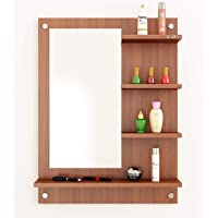 Anikaa Wood Wall Mirror (16 x 30 x 80 cm, Brown)
