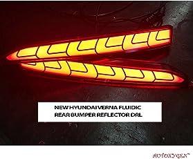 Autoxygen Back Bumper Rear Reflector DRL Hyundai Verna 2017 Onwards - Set of 2 Pcs