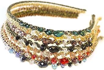 7PCS Girls Women Jewel Headbands Bejeweled Sparkle Headbands Set