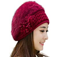 iSWEVEN 1058b Wine Red Imported Fancy Beautifully wooven Expandable Very Soft Beanie Cap hat for Women Girls Adults Men Boys Female Gents
