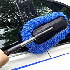Kurtzy Car Wash Brush Micro Fibre Duster Vehicle Washing Cloth Smooth Bristles Long Handle Interior & Exterior Cleaning Purposes (Assorted Colors)