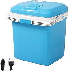 WOLTU Kühlbox, Thermo-Elektrische Mini-Kühlschrank, 26L Isolierbox warmhalten Oder Kühlen, 12V&230V, für Auto und Camping