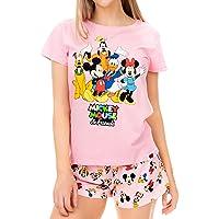 Disney Pigiama per Donna Mickey Mouse Minnie Mouse e Friends