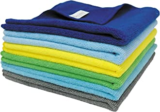 SOBBY Microfiber Car Cleaning Cloth Set of 5 for Detailing & Polishing 380 GSM, 40 Cm X 40 Cm, Muticolor