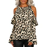 YOINS Donna Maglia Manica Lunga Camicetta Casuale Camicia con Incrociato Frontale Maglietta Asimmetrico T-Shirt Loose Fit Fel