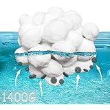 KITEOAGE Balles Filtrantes, 1400g Filtre Balls Sable Piscine Filtre à Fibres Remplacer pour 50kg de Sable pour Filtre Piscine