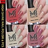 MI Fashion Professional Nude Series Super Shine 4 Nail Paint Combo 12ml each (Summer Tan, Skin Nude, Light Nude, Nude Spring)