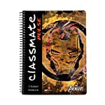 Classmate Soft Cover 5 Subject Spiral Binding Notebook, Single Line, 250 Pages