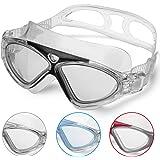 Zwembril voor volwassenen, anti-condens, zonder lekkage, duidelijk zicht, uv-bescherming, 180 graden zicht, eenvoudig aan te