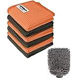 PHILORN Juego de Limpieza para Automóviles - Guante de Microfibra y Toalla de Limpieza Combinación de Limpieza Multifunción p