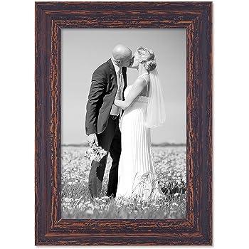 Bekannt Amazon.de: PHOTOLINI Vintage Bilderrahmen 21x30 cm/DIN A4 Holz WV17