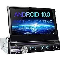 AWESAFE Autoradio 1 din Android 10.0 Universal Voiture Models Écran rétractable de 7 Pouces Cartes Hors Ligne…
