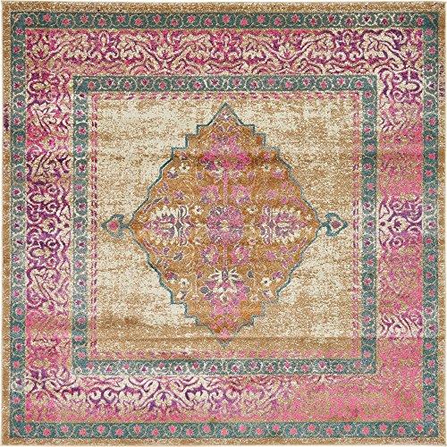 8 Square-beige-teppich (Moderne Aria Zeitgenössische Bereich Teppich, beige, 8 x 8 square)