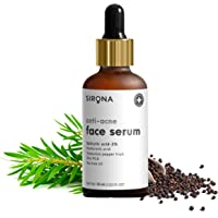 Sirona 2% Salicylic Acid Face Serum for Acne & Blackheads & Open Pores - 30 ml | Reduces Excess Oil & Bumpy Texture…