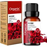 Organix Treasure Rose Essential oil Pure and Natural Therapeutic grade Steam distilled oil for skin care, Hair care, and Arom