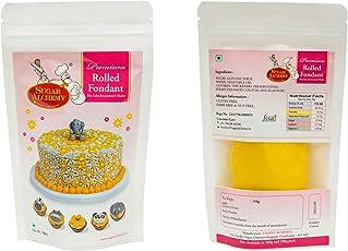 Sugar Alchemy Fondant or Sugar Paste - 150g -Yellow (9 Colours-3 Sizes-Rs 100-300)