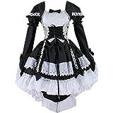 Très Chic Mailanda Cosplay Costume Vestito da Lolita Dress Maid Donna con Arco Anime Gotico Abito con Arco per Halloween Carn