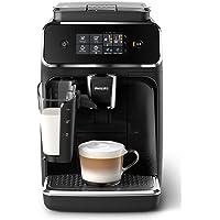Philips 2200 Serie EP2231/40 Kaffeevollautomat, 3 Kaffeespezialitäten (LatteGo Milchsystem) Klavierlack-schwarz/Schwarz